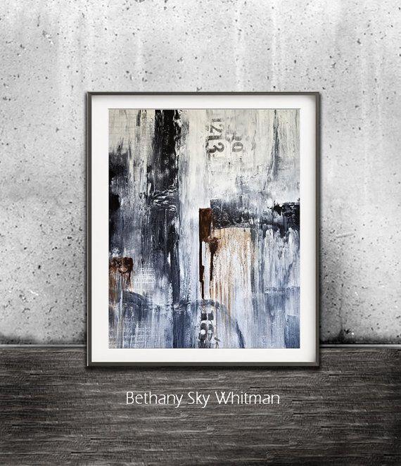 Black And White Digital Download Print Abstract Art Modern Urban