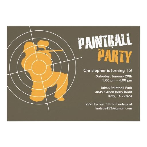 Free Paintball Party Invitation Template Invites Pinterest - Party invitation template: free email birthday party invitation templates