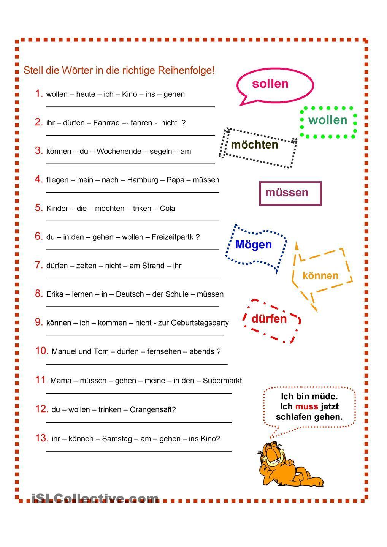 Modalverben | German, German language and Deutsch