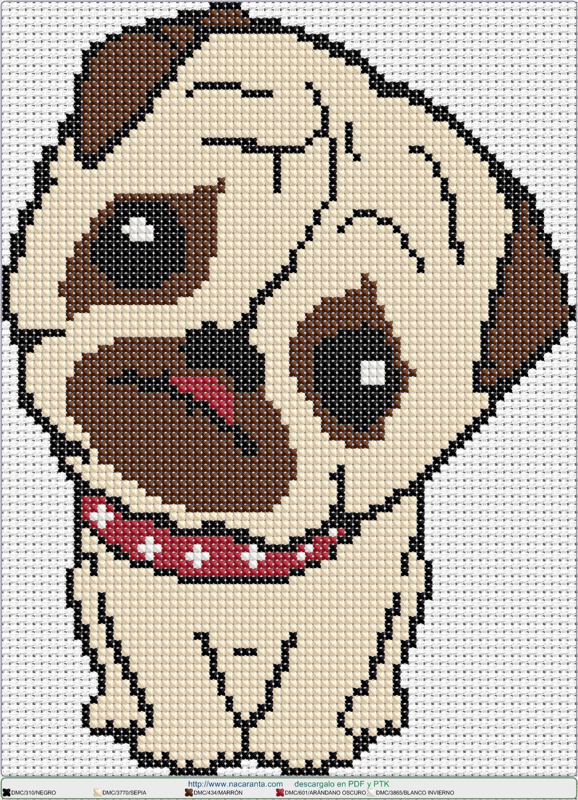 Carlino EN PUNTO DE CRUZ, Cross stitch patterns | Animales punto ...