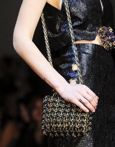 Hard Weave Bag Trend for Spring Summer 2013.  Paco RabanneSpring Summer 2013.    #bag  #trends