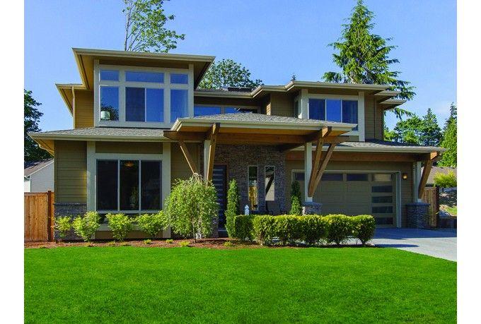 1 5 fachada 1 plano de casa grande house planos de for Casa moderna 5 mirote y blancana