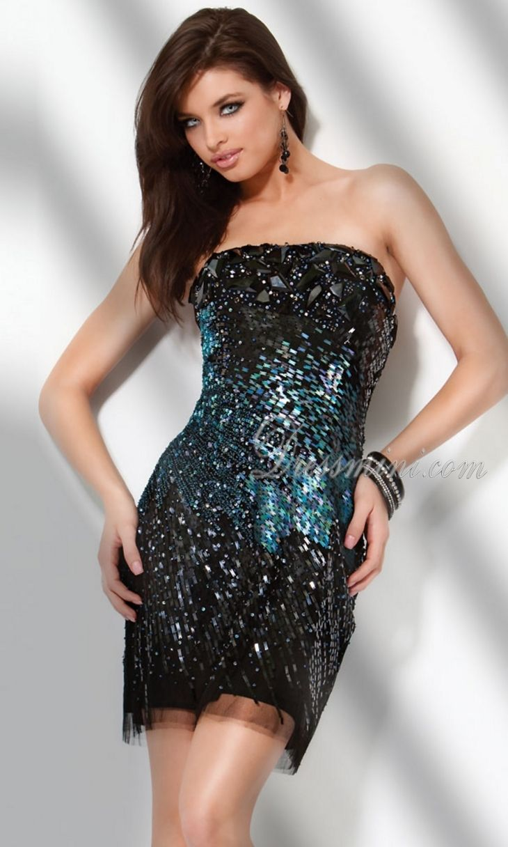 Images of Sparkly Black Dress - Reikian