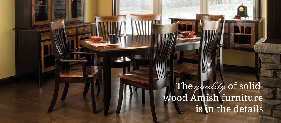 Two Tone Amish Dining Set Contemporary Dining Room Sets Dining