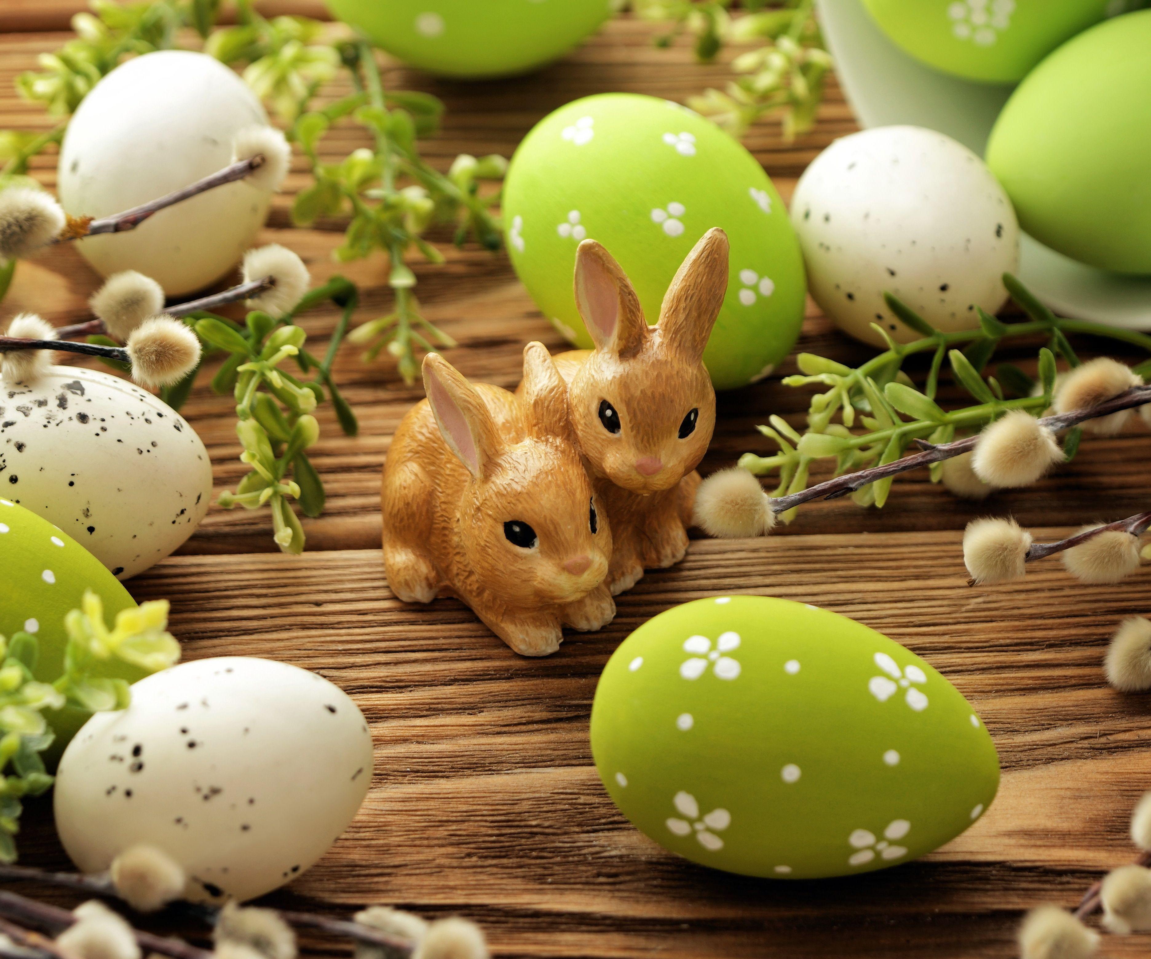 Скачать обои цветы, eggs, spring, Happy, willow, Пасха ...
