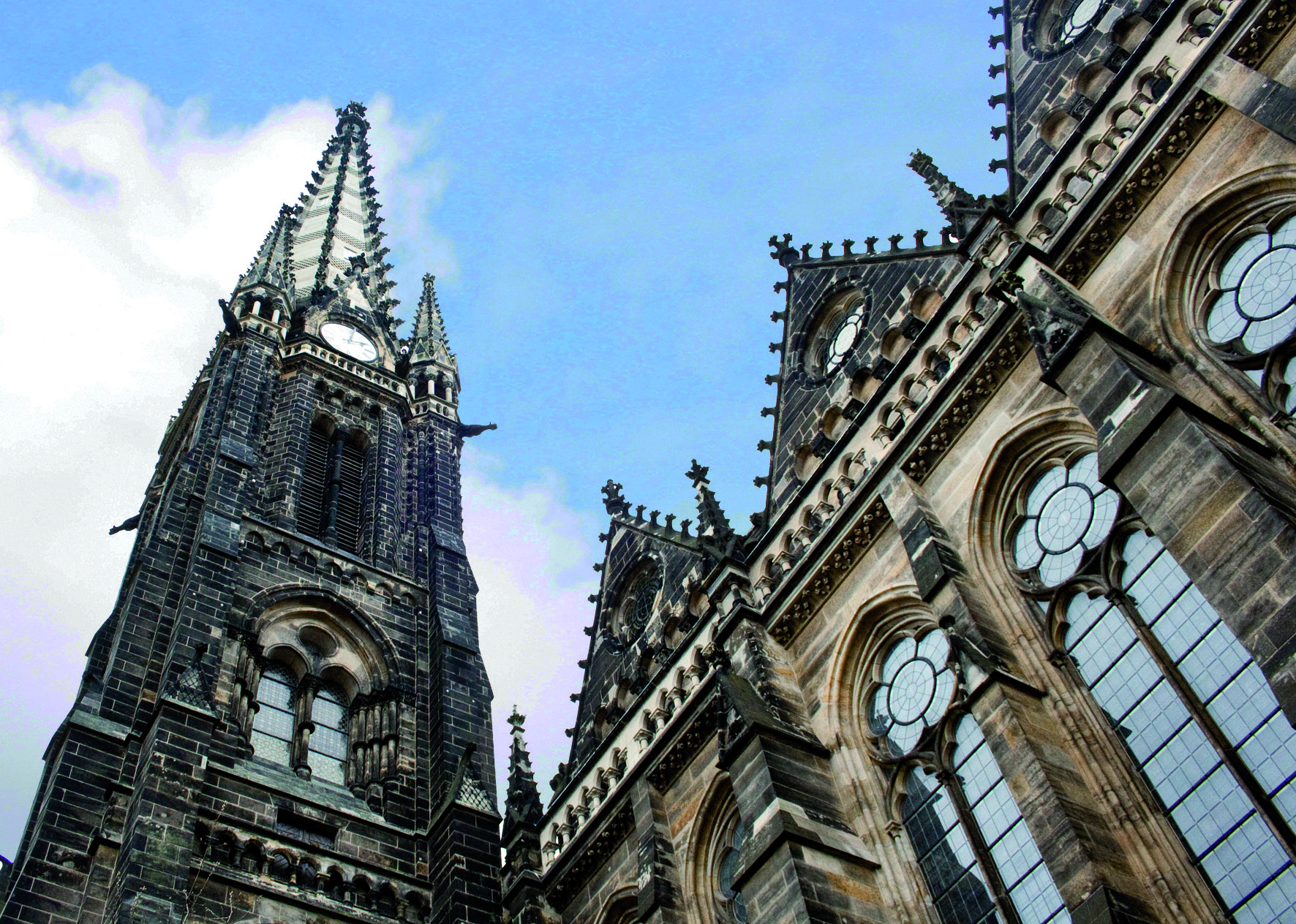 Peterskirche Leipzig Sudvorstadt City Barcelona Cathedral Landmarks