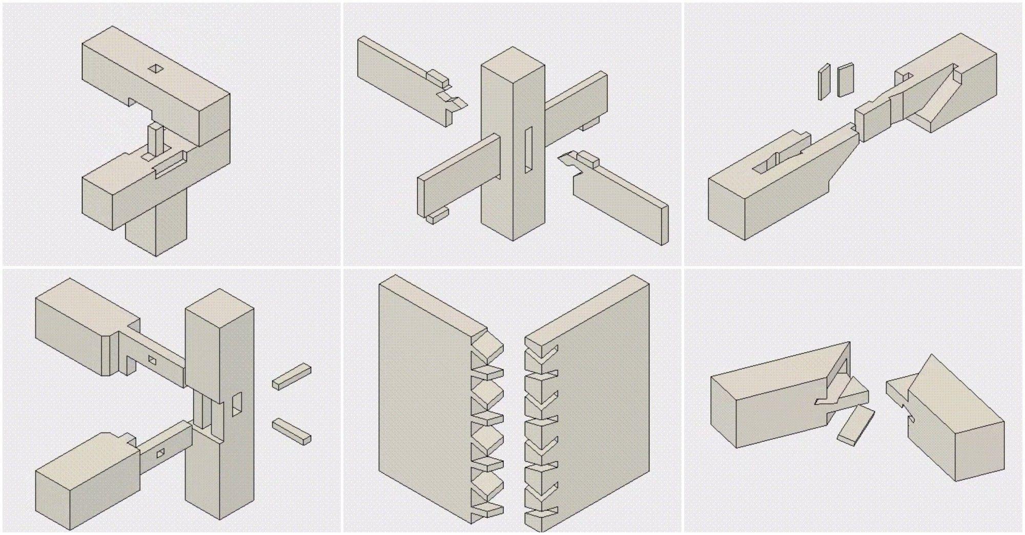 Estos increíbles GIFs ilustrados nos muestran el arte japonés de las uniones en madera