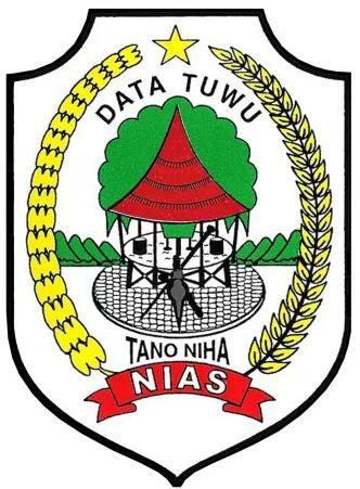 Lambang Kabupaten Nias Kota Indonesia Abstrak