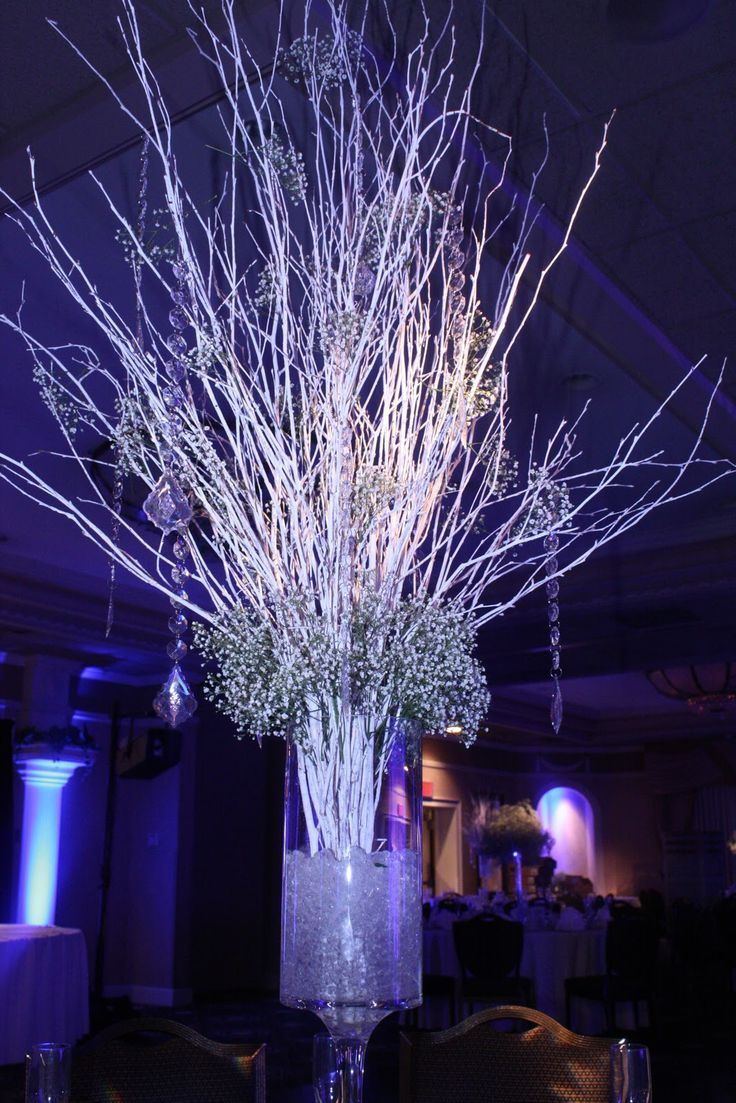 How to make christmas centerpieces with ice - Lighted Trees For Wedding Reception Google Search