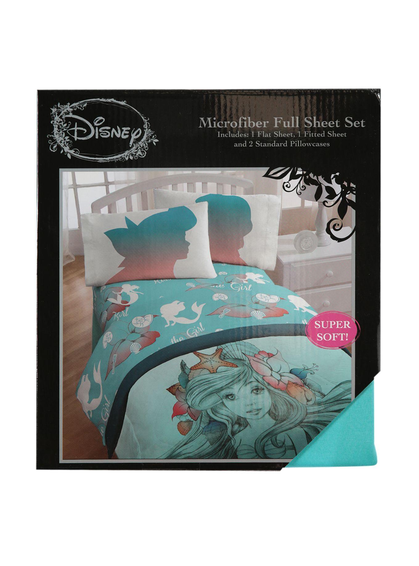 Disney The Little Mermaid Microfiber Full Sheet Set Hot