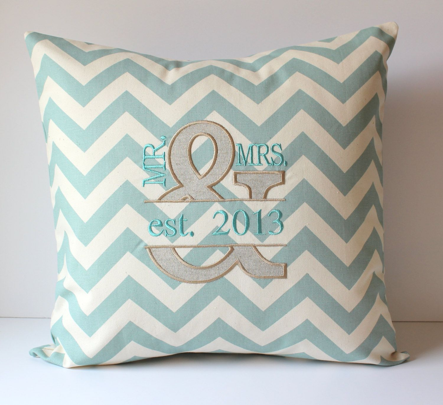 sewgracious mr mrs pillow appliqued monogrammed cover by pin