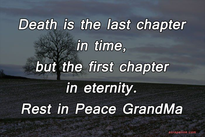 rest in peace quotes for grandma | Peace quotes, Rest in ...