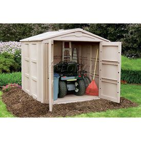 Backyard Garden Storage Shed   By Suncast: A Perfect Storage Solution For  Your Backyard To Keep All Your Gardening Tools And Garage Equipment  Covered; ...
