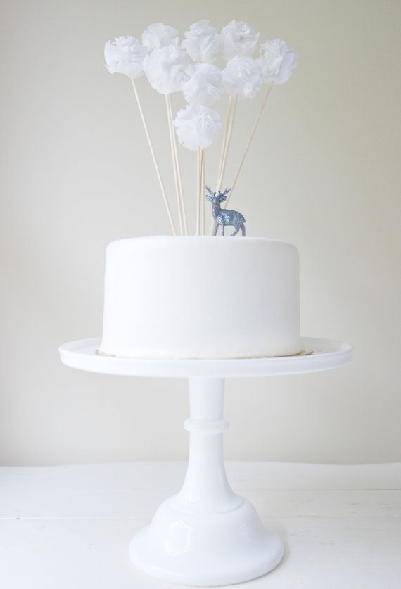 Winter White Cake Pom Collection