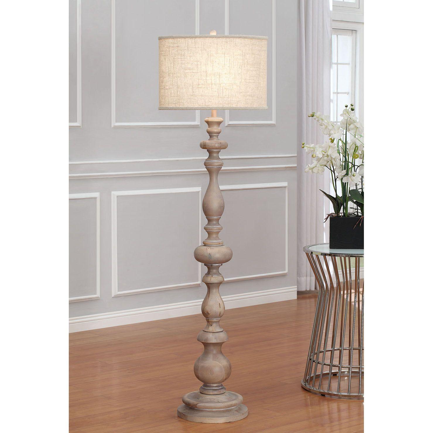 Brighten your indoor space with this latte grande floor lamp. A one ...