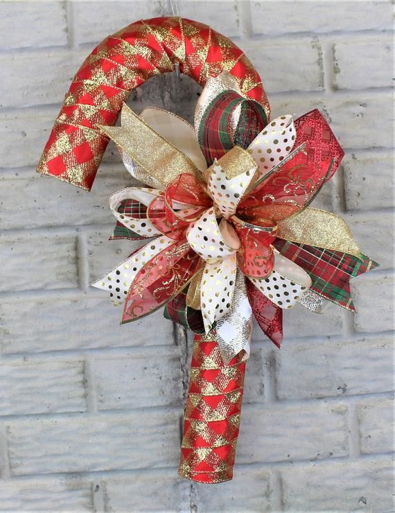 Candy Cane Christmas Wreath Candy Cane Wreath Candy Cane Etsy $22