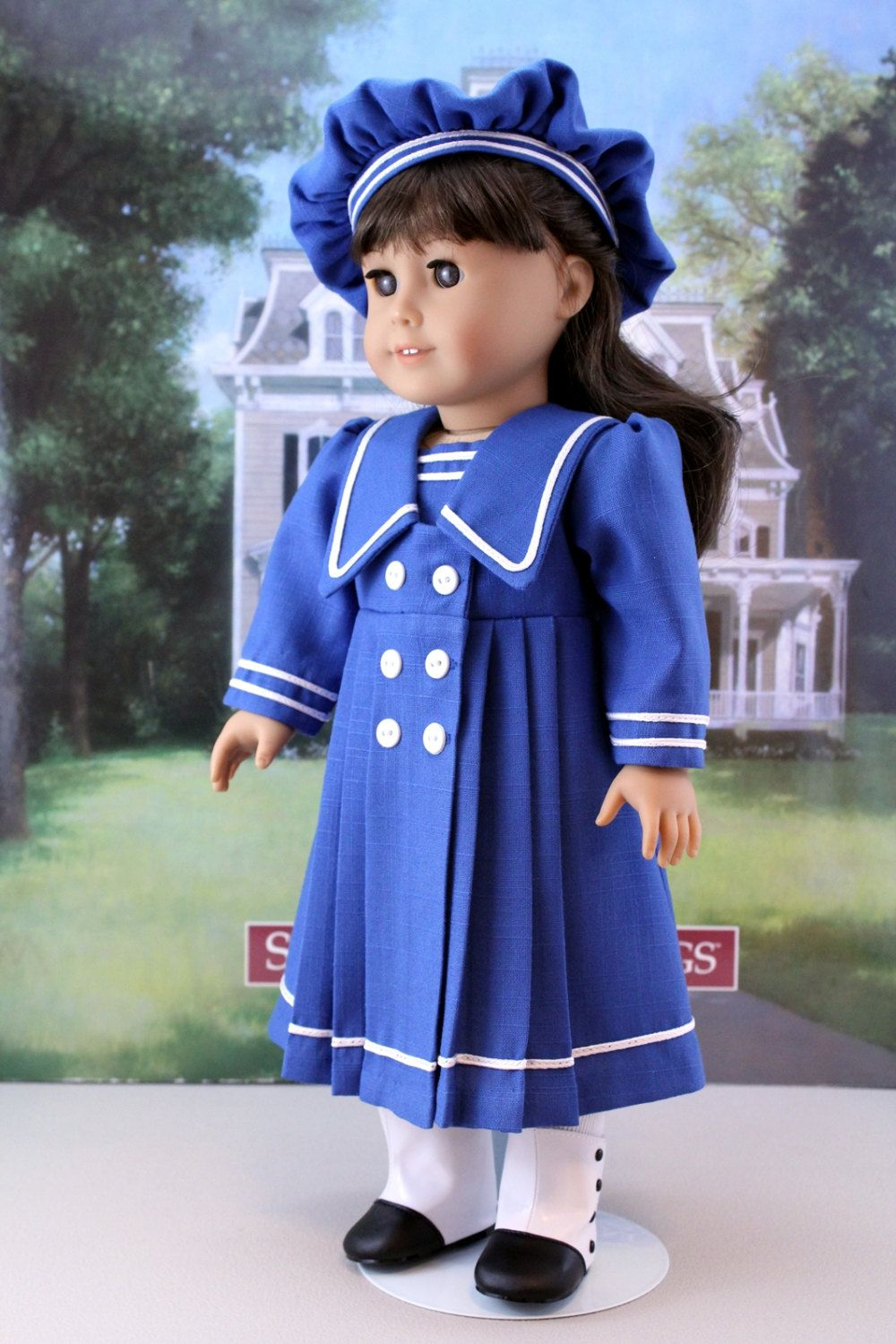 Sailor Style Dress and Hat for Samantha, Rebecca, or other ...