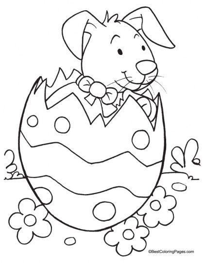 Easter Bunny Coloring Page 6 Easter Coloring Sheets Pinterest