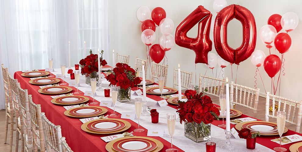 Ruby 40th Wedding Anniversary Party Supplies Party Decor