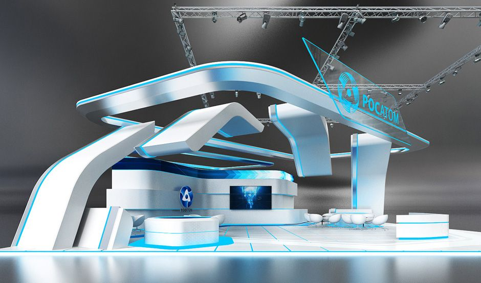 Exhibition Stand Futuristic : Futuristic conceptual designs for the rosatom — government