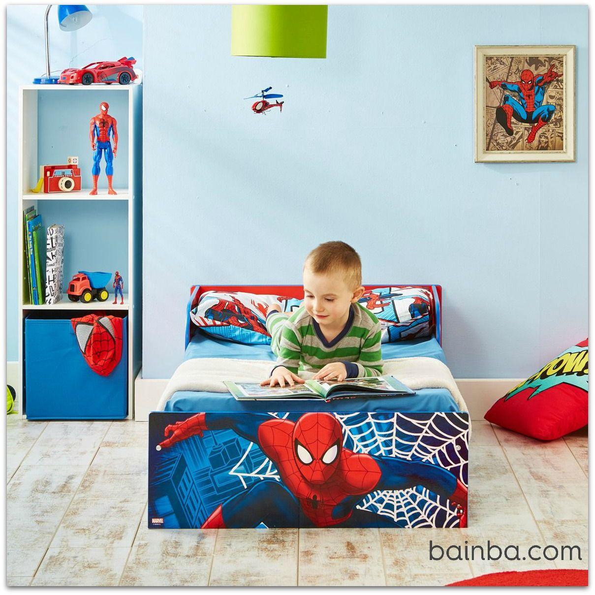 Habitaci n infantil spiderman su primer cama infantil for Cuartos decorados hombre arana
