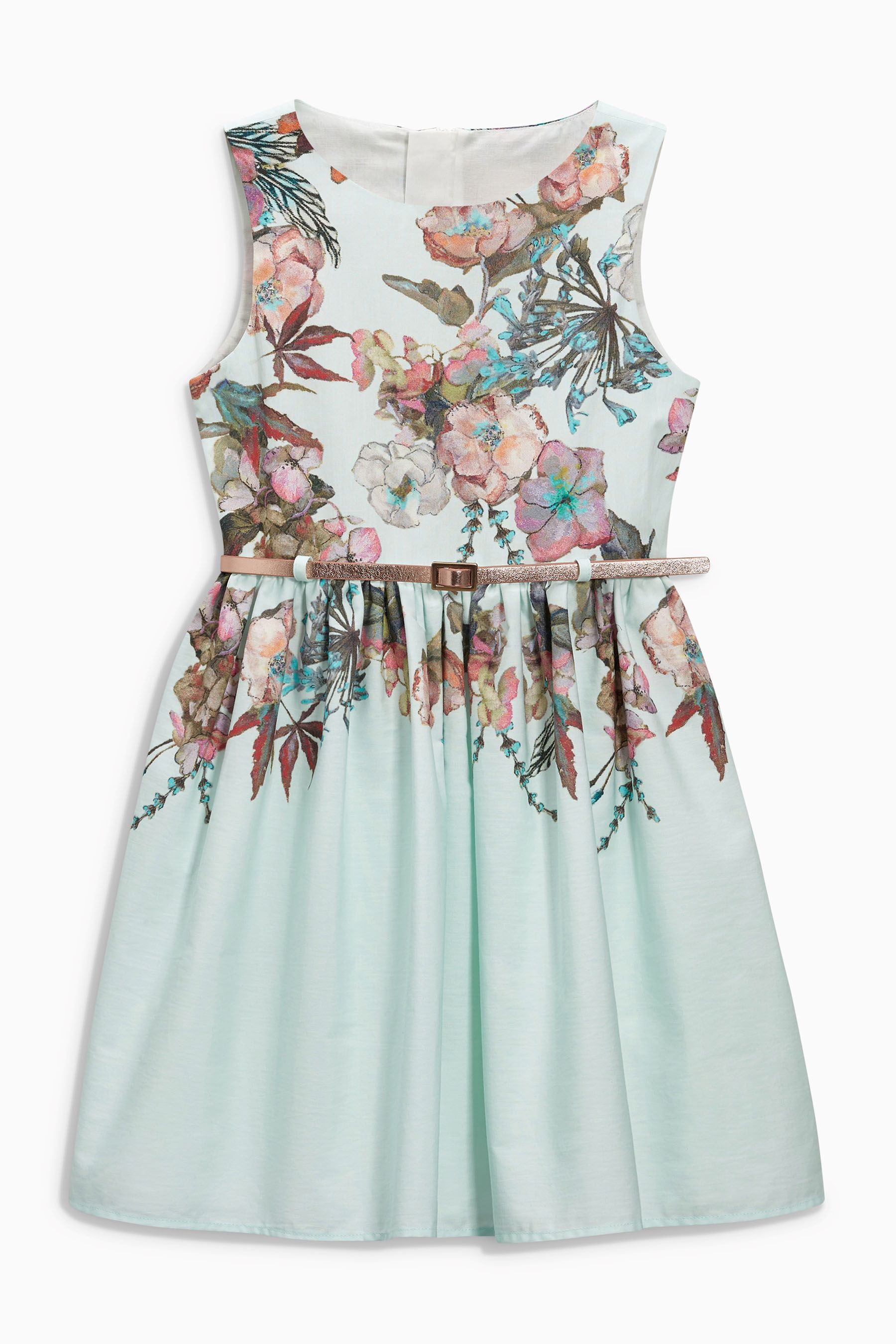 Buy Aqua Floral Prom Dress (3-14yrs) from the Next UK online shop ...