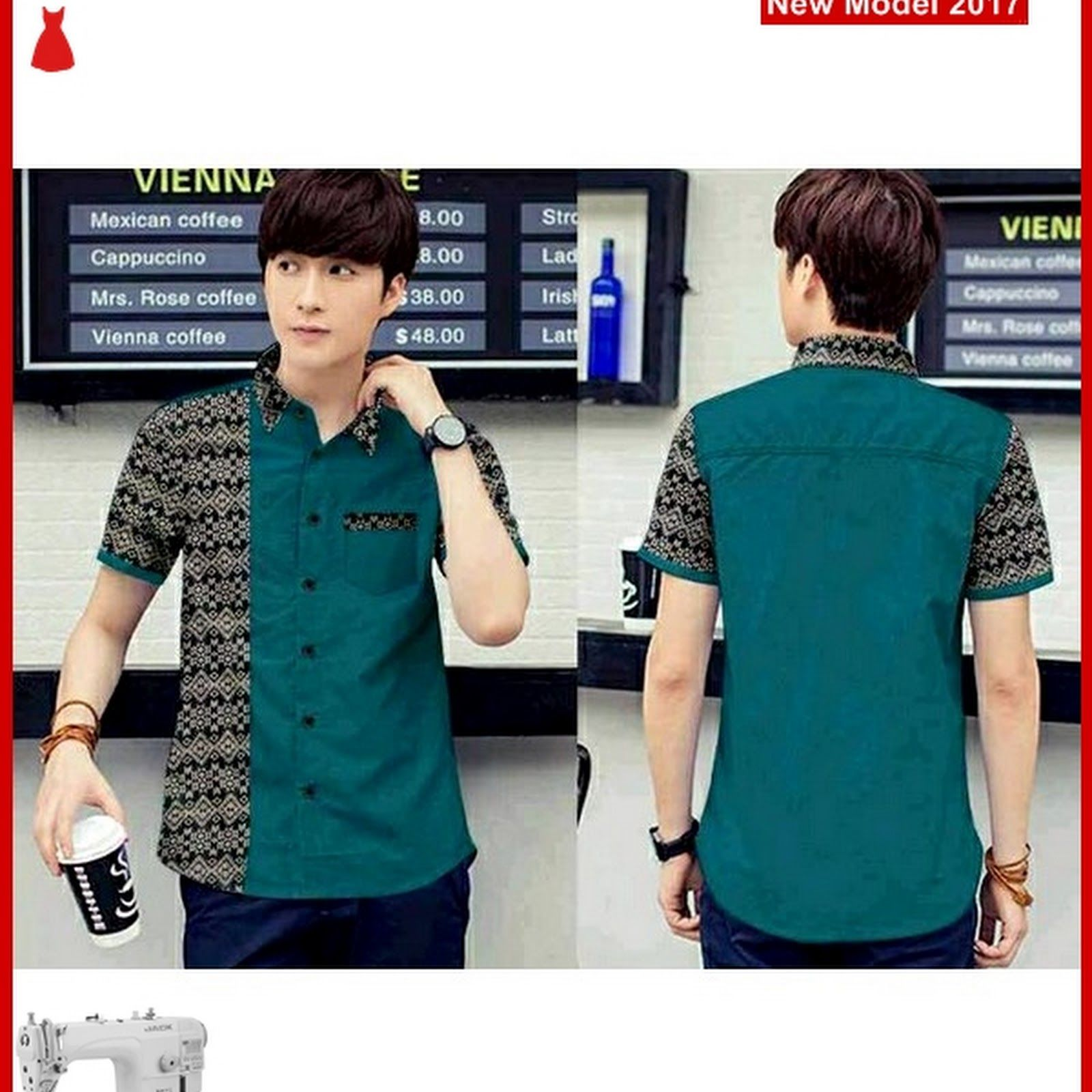 Msf0054 Model Kemeja Combi Murah Batik Vincent In 2018 Model Baju