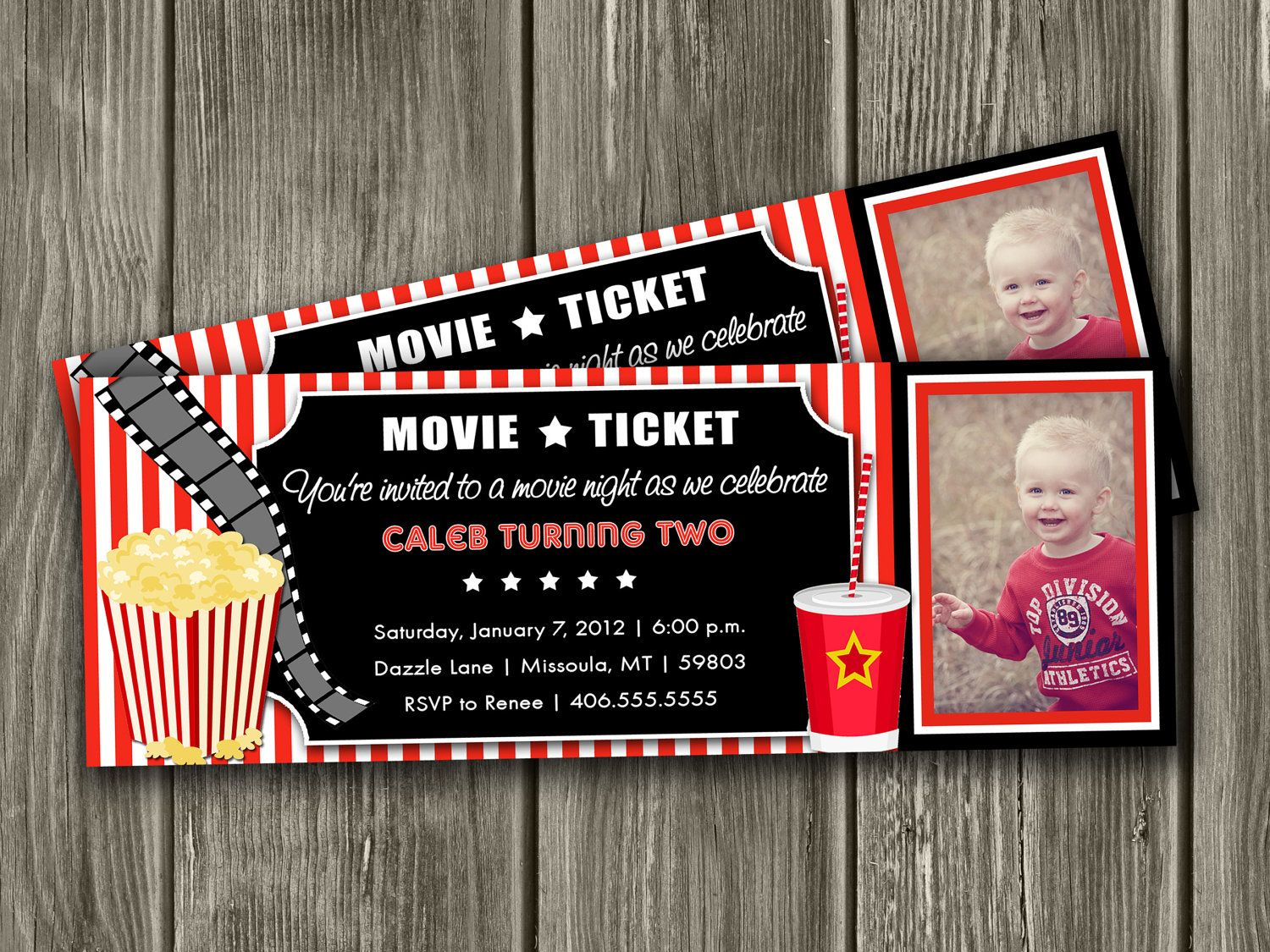 Movie Ticket Invitation FREE thank you card by DazzleExpressions ...