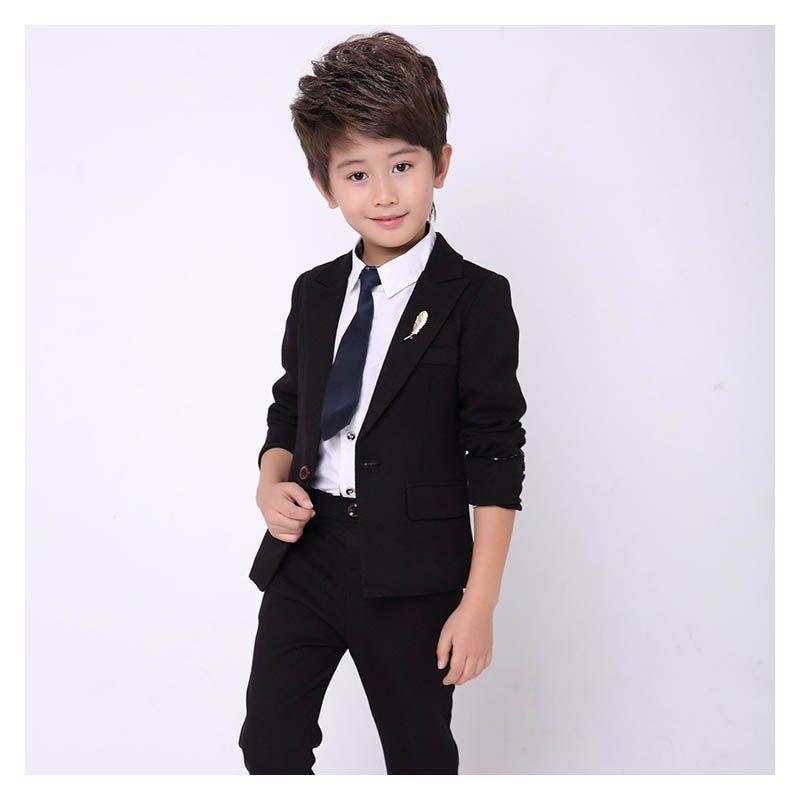 44051eb993f13 New kids blazer for boys suit baby boy 2PCS Black suits for boy tuxedo  children party costume wedding clothes suit (jacket+Pants