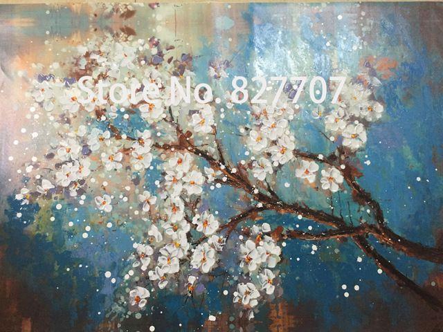 Handgemaltes Modernes Abstraktes Blumenleinwandkunst Dekoration von Ölgemälde Wandbilder Für Wohnzimmer Farbe