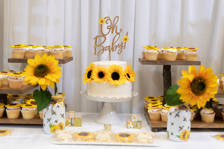 Baby Shower Cake Table Baby Shower Yellow Summer Baby Shower