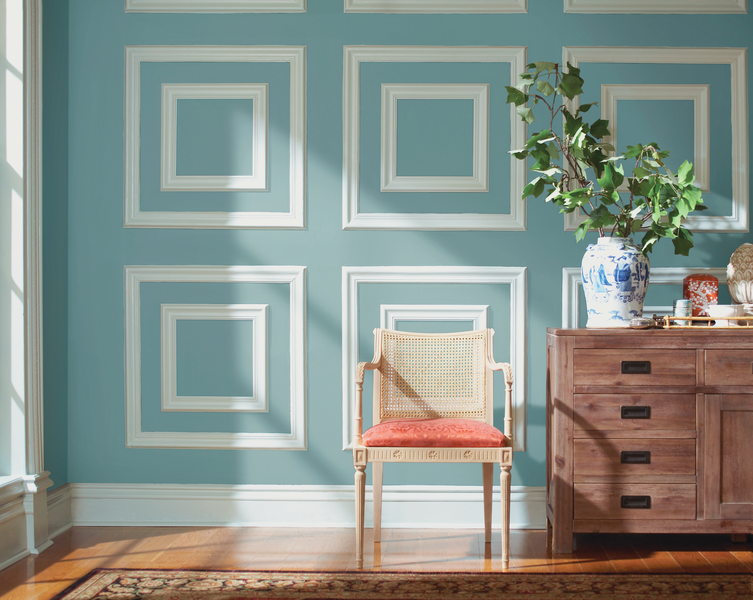 Perfect Up Your Wallus Wowfactor With Paint And Moulding The Painting Trim Same Color As Walls