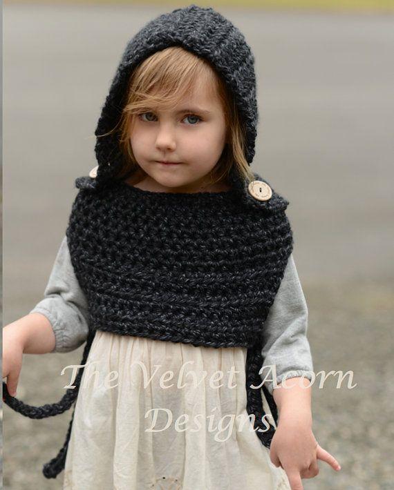 Crochet PATTERN-The Barron Hood 12/18 months-2 3/4 5/7   como hago ...