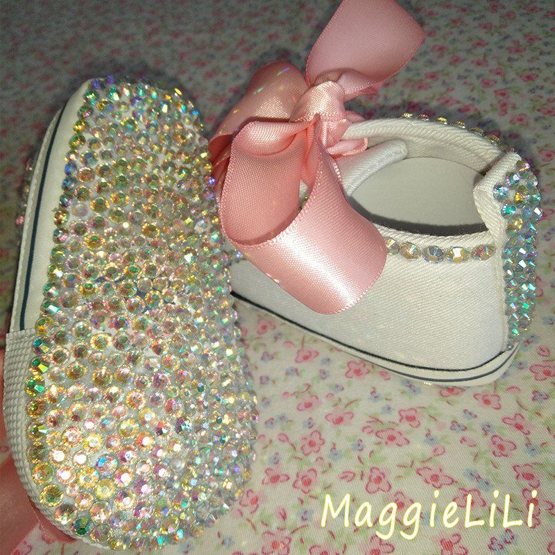 40a131e0b00c Baby Bling Newborn Infant Girl Jeweled Shoes Booties