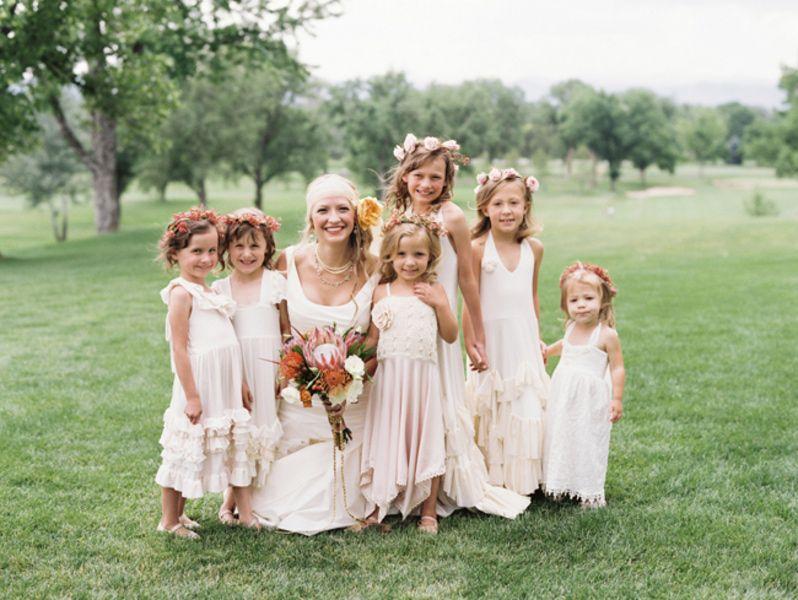 Colorado Boho Wedding-- the most darling flower girl styling!