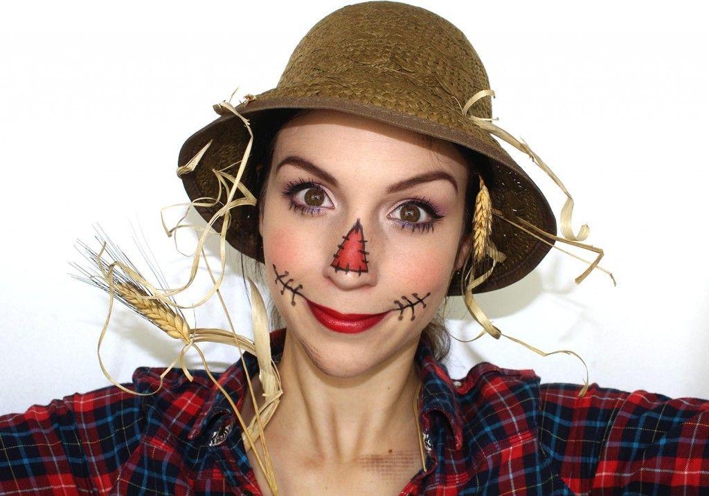 maquillagehalloweenepouvantail Maquillage halloween