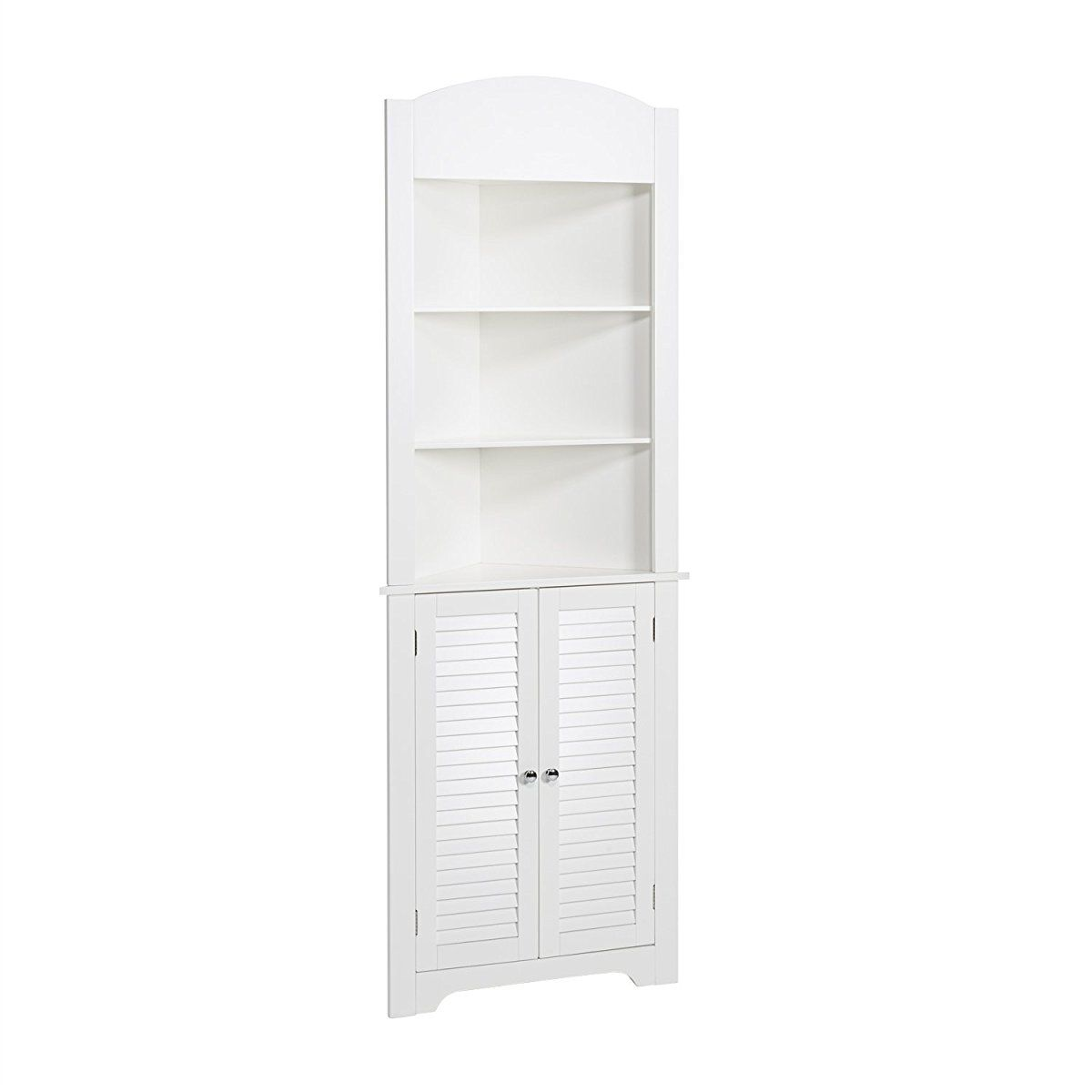 RiverRidge Home Ellsworth Collection Tall Corner Cabinet, White ...