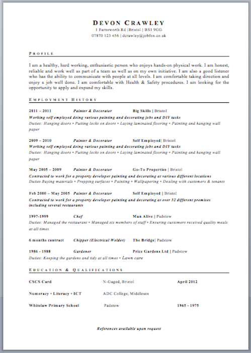 curriculum vitae template word free httpwwwresumecareerinfo - Cv Resume Template Word