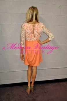 Texas Sweetheart Dress Sherbert Orange - Modern Vintage Boutique