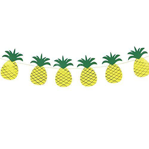 Deko Sommerfest pineapple ananas girlande sommerfest sommerparty deko