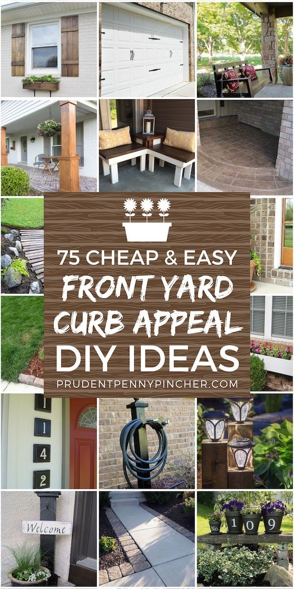 32 Creative Home Front Landscape Design Ideas: 100 Cheap & Easy Front Yard Curb Appeal Ideas
