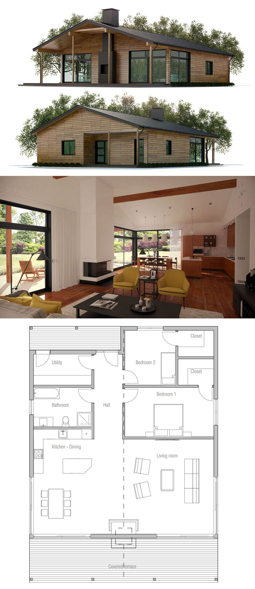 Small house plan small home ideas pinterest small house plans