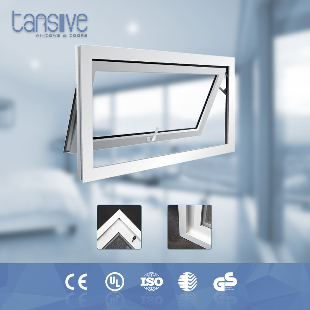 Tansive Construction Double Glazed Security Heat Resisting Aluminum Material Awnings Windows