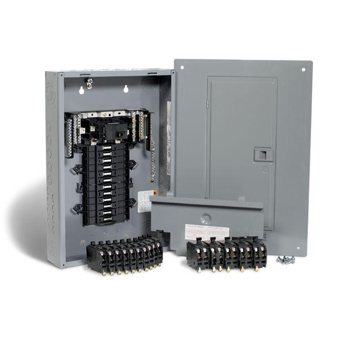 Square D 100a 24 Spaces 48 Circuit Qo Panel Package Qp24100 Rona Hardware Storage Paneling Locker Storage