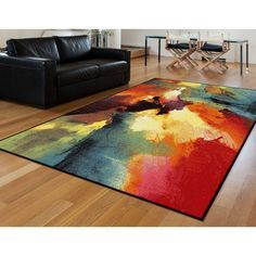 Alise Avdel Contemporary Abstract Multi Area Rug (5'3 x 7'3) | Overstock.com Shopping - The Best Deals on 5x8 - 6x9 Rugs