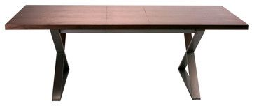 Cabello Extension Dining Table Brown Contemporary Tables Modern Furniture Warehouse