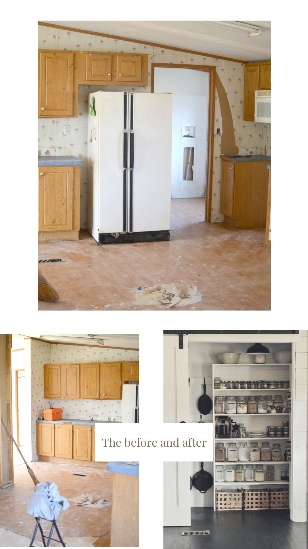 Double Wide Mobile Home Home Walk In Pantry Remodeling Mobile Homes Mobile Home Renovations Mobile Home Doors