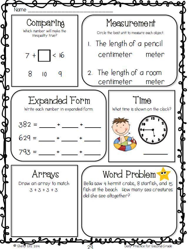 Math Morning Work for Second Grade | K-2nd Grade | Pinterest ...