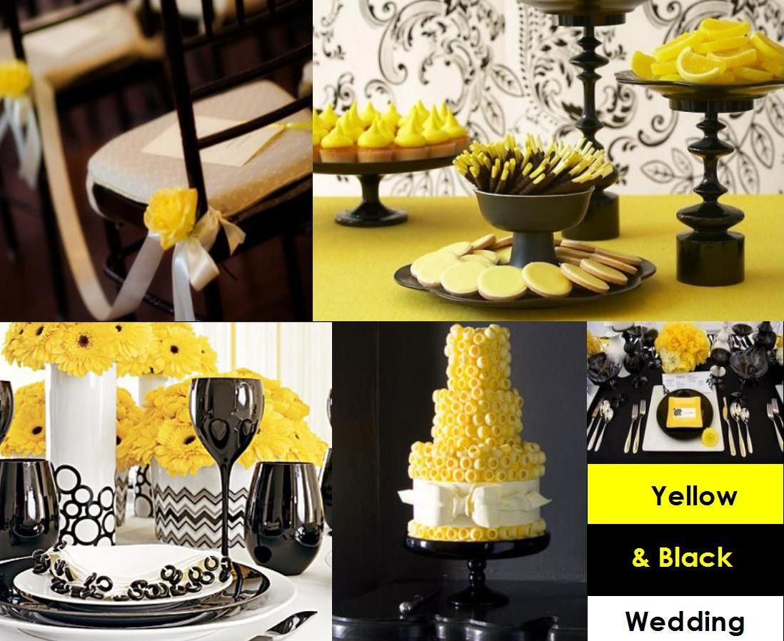 Image Result For Black White And Yellow Party Decorations