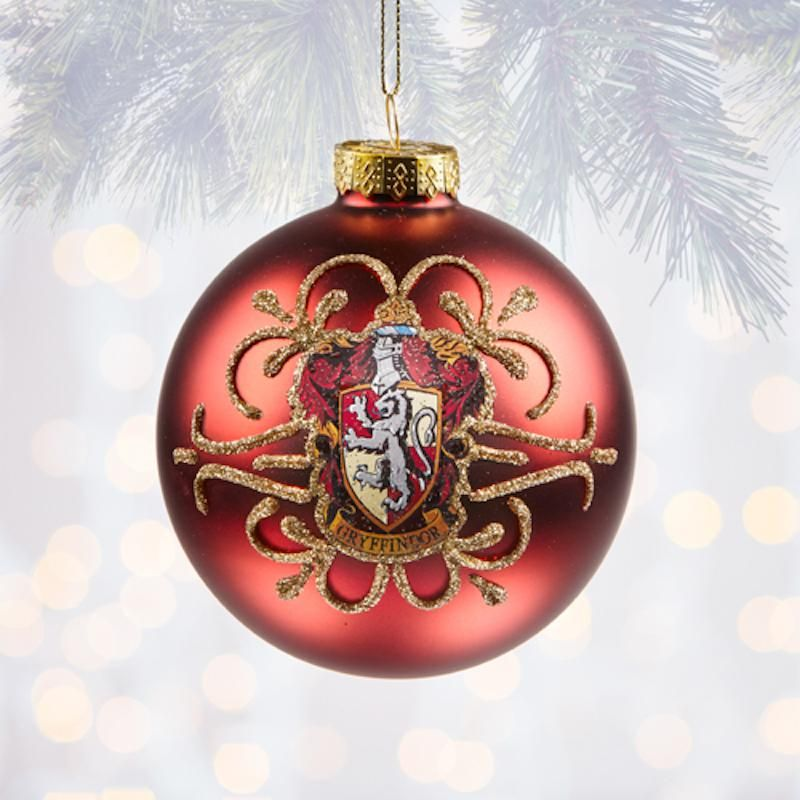 Universal Studios Harry Potter Gryffindor Ball Christmas Ornament New With Tags
